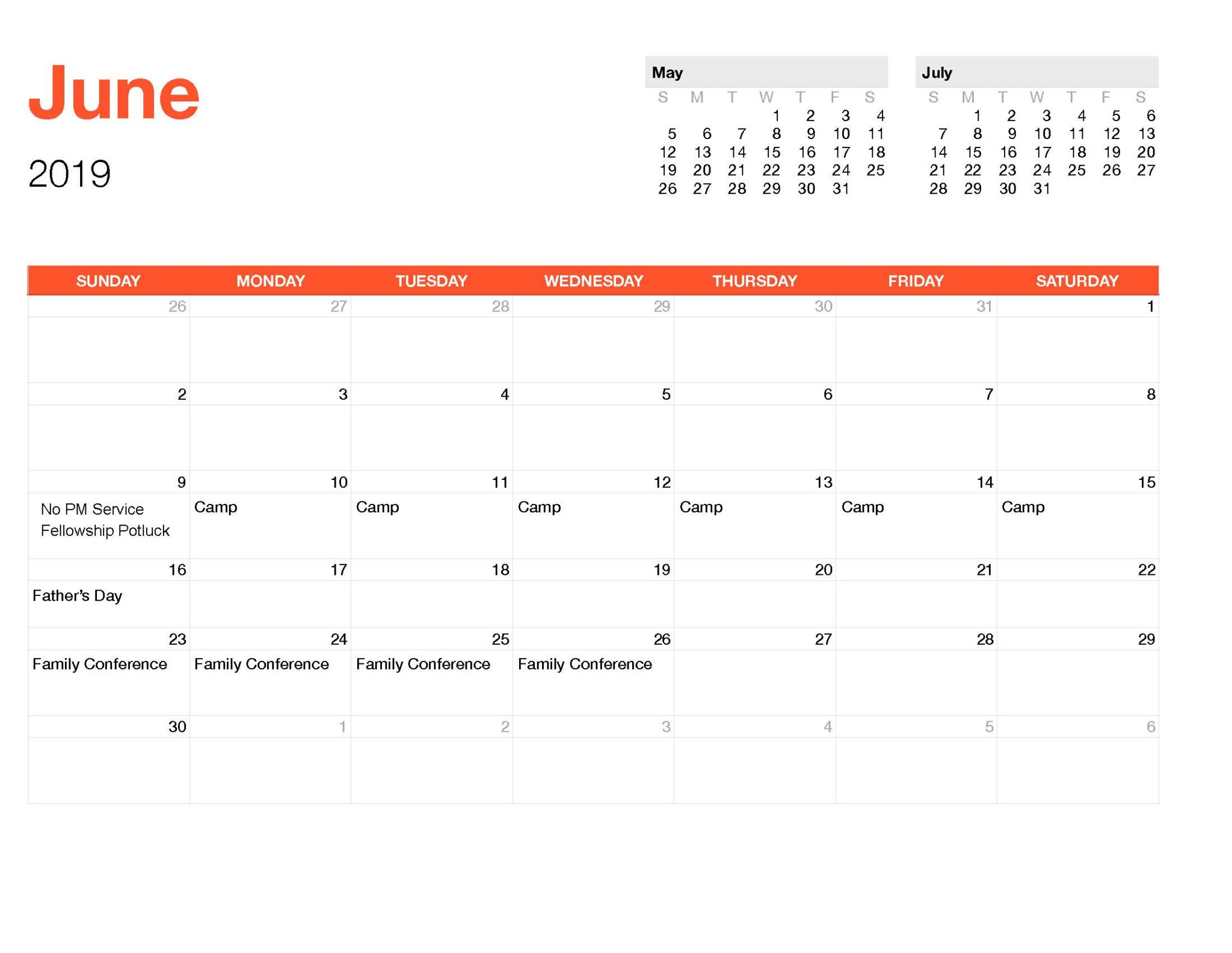 Calender June-Monthly